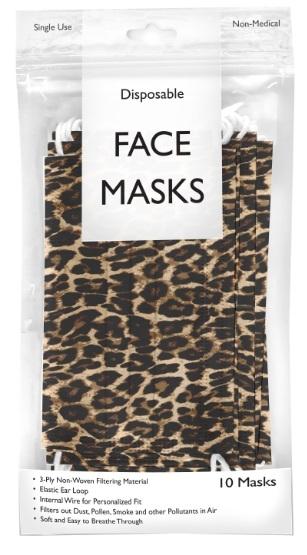 Image Leopard Disposable Mask 10pack