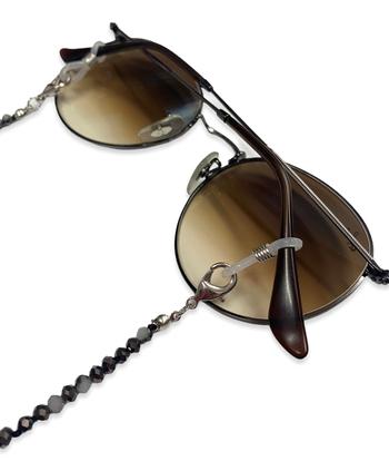 Image Black & White Stone Beaded Sunglass Chain