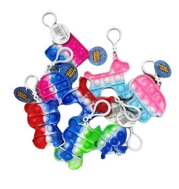 Image Tie Dye Fun Shape Crazy Snaps Key Chain