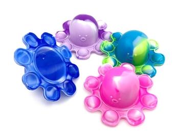 Image Tie Dye Flipping Octopus Key Chain