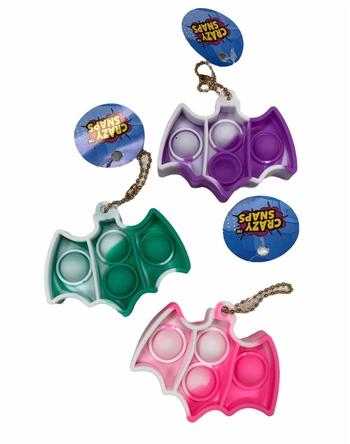 Image Tie Dye Bat Crazy Snap Key Chain
