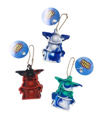 Image Tie Dye Alien Crazy Snap Key Chain
