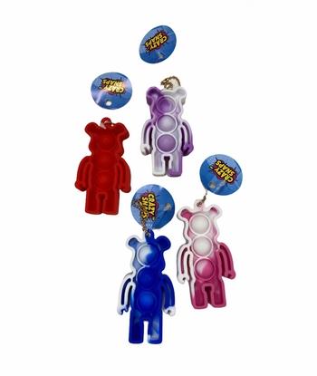 Image Tie Dye Bear Crazy Snap Key Chain