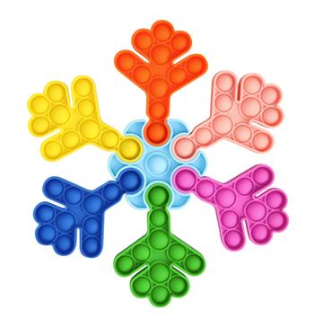 Image Rainbow Snowflake Crazy Snaps Puzzle