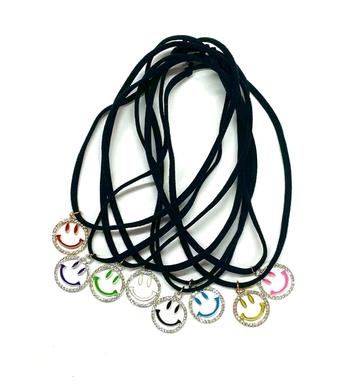 Image Confettio Rhinestone Smile Stretchy Necklace