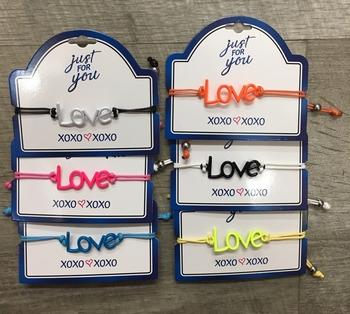 Image Love Adjustable Cord Bracelet