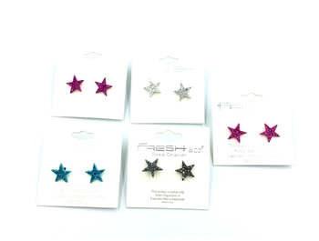 Image Rhinestone Star Earrings