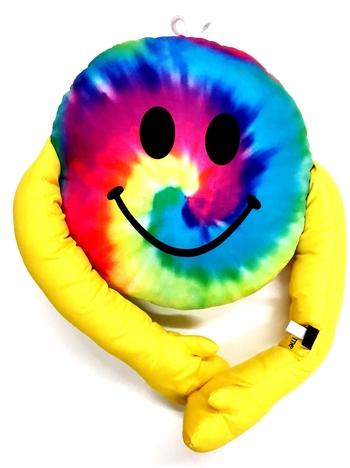 Image Tie Dye Smile Hug Autograph Pillow