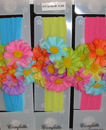 Image Daisy Flower Cluster Stocking Headband