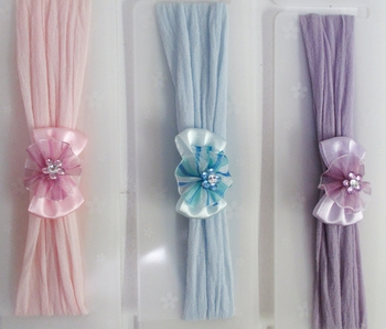 Image Satin Bow Stocking Headband