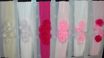 Image Chiffon Rose Cluster Stocking Headband