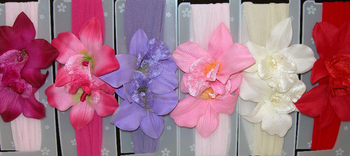 Image Double Lily Stocking Headband