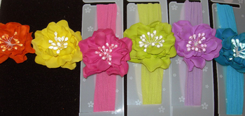 Image Bright Ruffle Glitzy Center stocking Headband