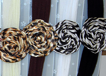 Image Leopard Rose Stocking Headband