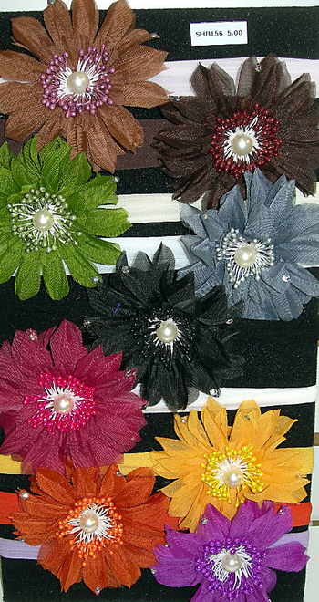 Image Fall Flower Stocking Headband