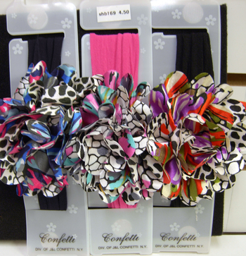 Image Rainbow Leopard Rose Stocking Headband