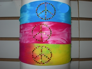 Image Peace Tie Dye Micro Fiber Headband