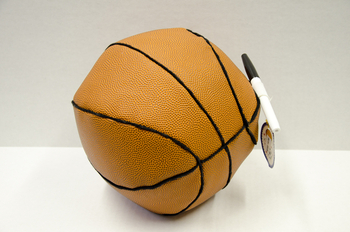Image Basket Ball Autograph Pillow
