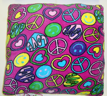 Image Fuzzie Pink Peace Smile Pillow