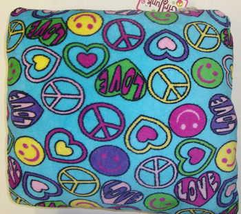 Image Fuzzie Turquoise Peace Smile Pillow