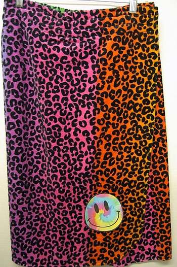 Image SW1 Rainbow Leopard Shower Towel Wrap