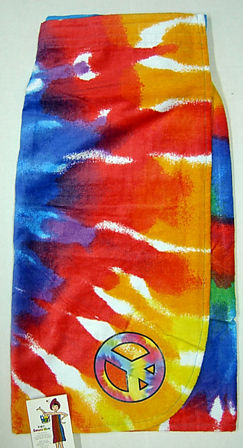 Image TIe Dye Shower Towel Wrap