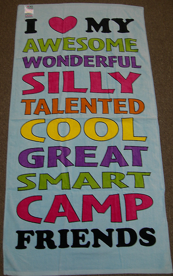 Image I Love My Camp Friends Towel