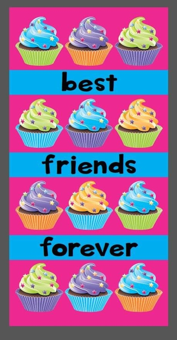 Image Cupcake Friends Forever Towel