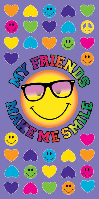 Image My Friends Make Me Smile Towel