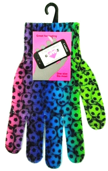 Image Texting Gloves Rainbow Soccer