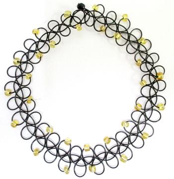 Image Tattooz Gold Beaded Necklace