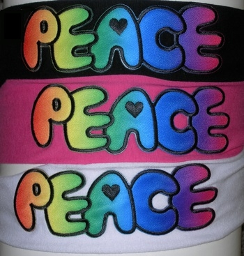 Image Airbrush Peace Jersey Headwrap