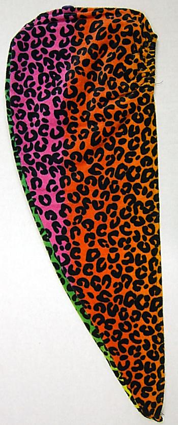 Image THW1 Rainbow Leopard Towel Turban