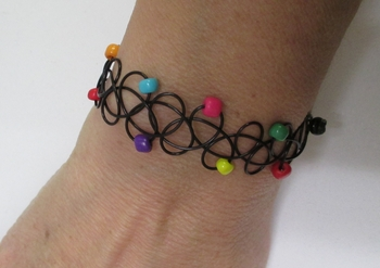 Image Tattooz rainbow beaded bracelet